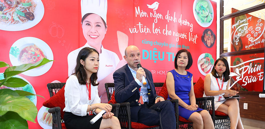 """Auchan VN ra mắt dự án """"Món ngon dinh dưỡng & tiện lợi cho người Việt"""" cùng chuyên gia ẩm thực Diệu Thảo"""