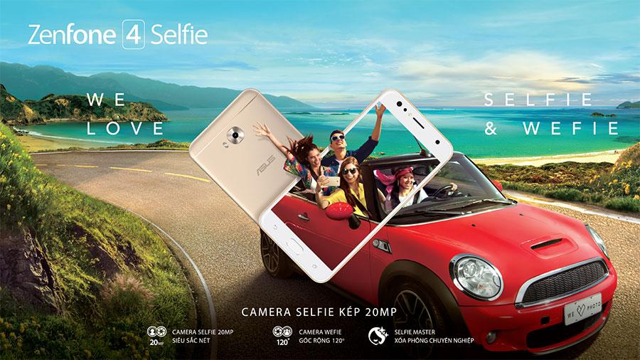 Smartphone selfie kép 20MP ZenFone 4 Selfie chính thức được bán trên toàn quốc với giá 5.490.000 đồng