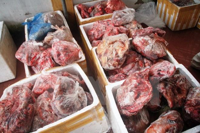 TP.HCM : Thu giữ 27 tấn sản phẩm động vật không rõ nguồn gốc xuất xứ