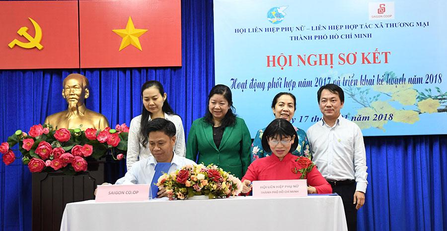 Hội Liên hiệp Phụ nữ TP.HCM & Saigon Co.op ký kết thực hiện nhiều hoạt động trong năm 2018