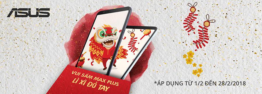 """ASUS """"lì xì"""" cho 100% khách hàng mua ZenFone Max Plus dịp Tết Nguyên Đán 2018"""