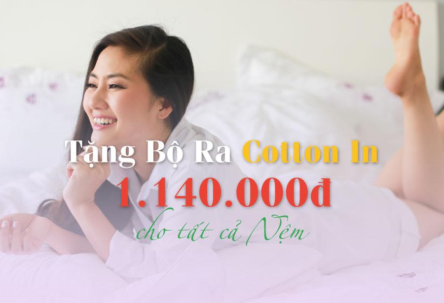 Edena tặng ngay trọn bộ drap cao cấp Cotton In trị giá 1.140.000 đồng