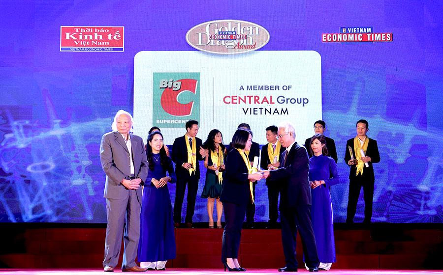 Big C & Central Group Việt Nam nhận giải thưởng Rồng Vàng 2017 - 2018