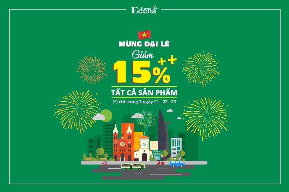 Chăn ra gối nệm cao cấp Edena giảm giá tưng bừng mừng đại lễ với cơ hội mua sắm tiết kiệm cùng nhiều ưu đãi đặc biệt