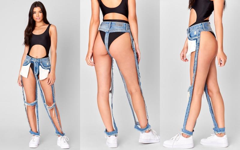 """Quần jeans """"có cũng như không"""" khiến cộng đồng mạng hoang mang"""