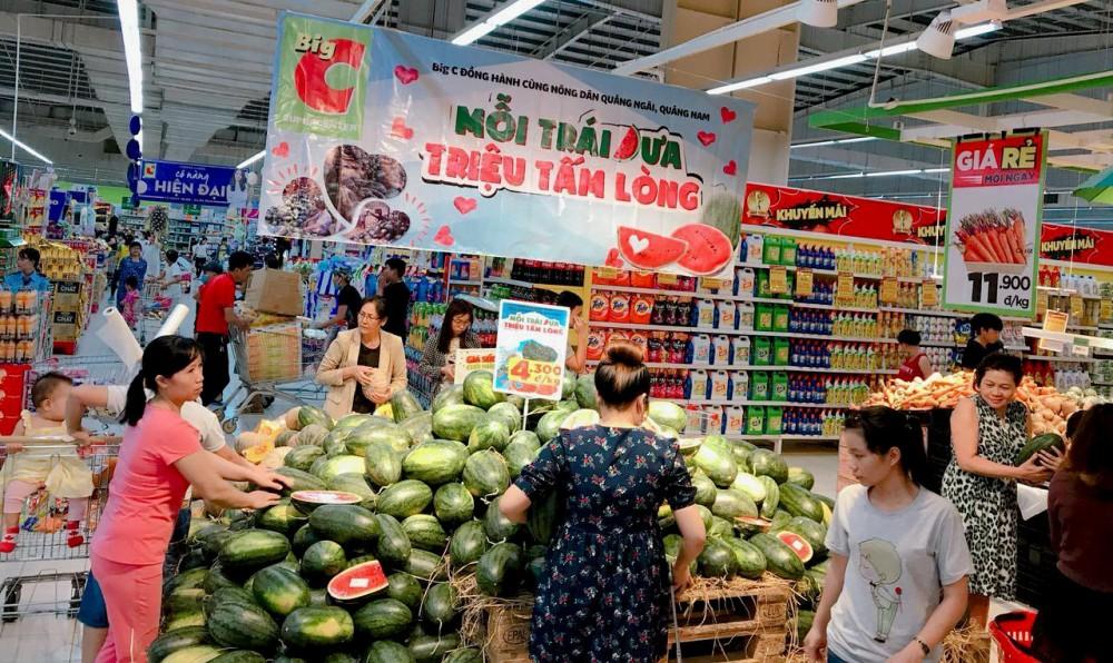 Gần 250 tấn dưa hấu sẽ được tiêu thụ trên toàn Hệ thống siêu thị Big C