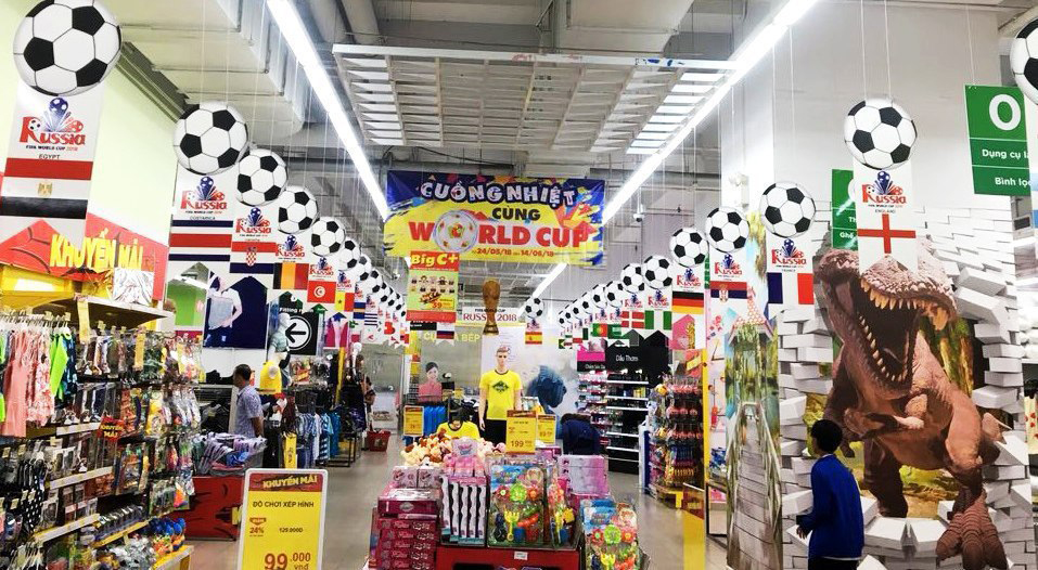 Cuồng nhiệt cùng World Cup, Big C & Nguyễn Kim kết hợp tặng ngay phiếu giảm giá lên đến 1 triệu đồng cho khách hàng