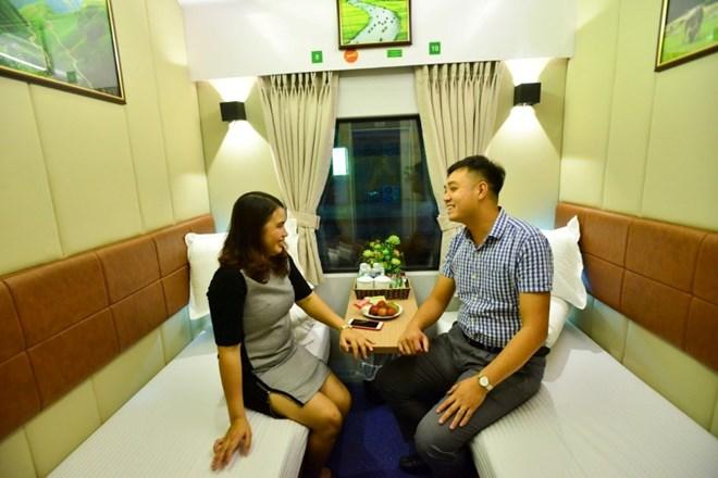 Đường sắt khai thác toa xe khoang 2 giường VIP trên tàu Bắc-Nam