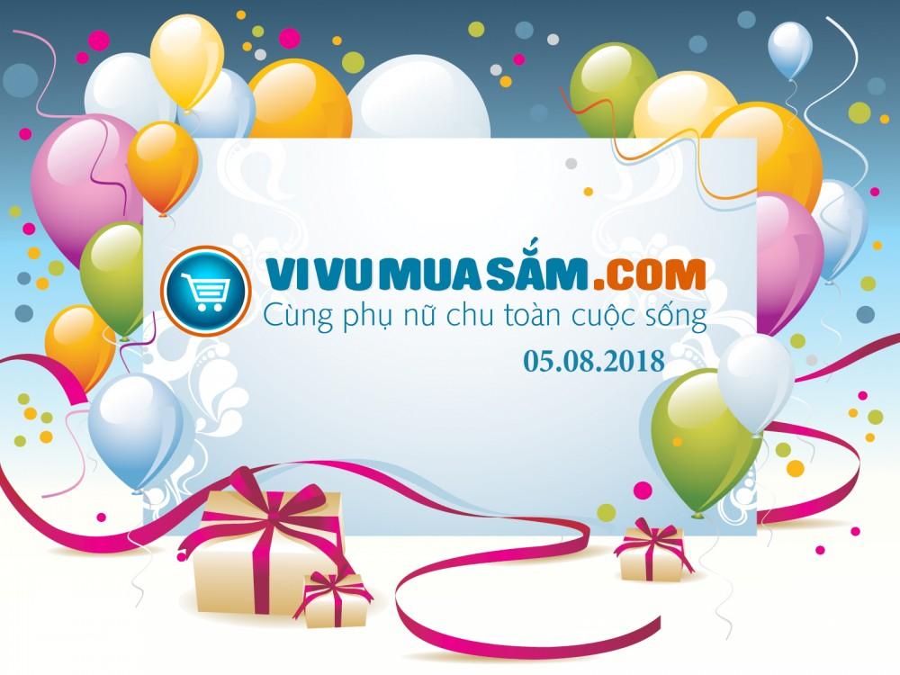 Chúc mừng ViVuMuaSam.Com tròn 8 tuổi