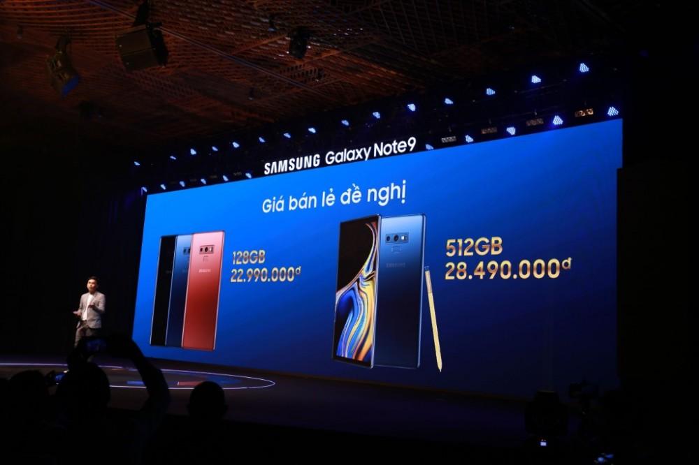 Samsung Galaxy Note9 chính thức ra mắt tại thị trường Việt Nam