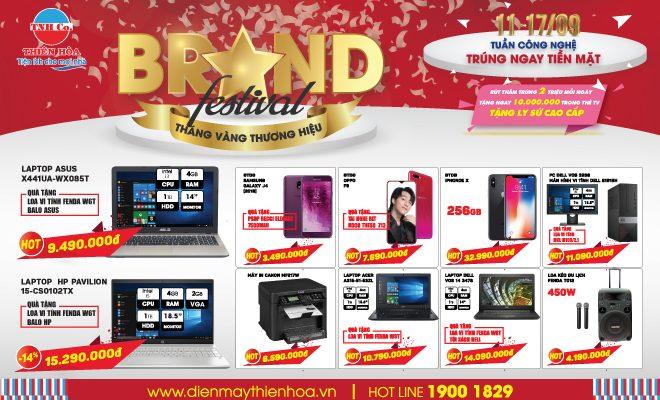 """Thiên Hòa khởi động """"Brand festival – Tháng vàng thương hiệu"""" với nhiều ưu đãi mua sắm cho khách hàng"""