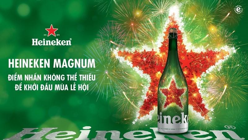 Quà tặng mùa lễ hội với phiên bản Heineken Magnum hoàn toàn mới