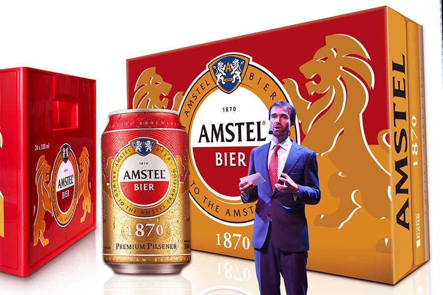 Thương hiệu bia cao cấp Amstel chính thức ra mắt thị trường bia Việt Nam