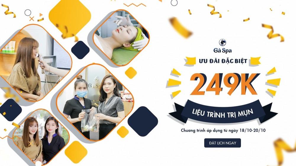 Gà Spa tặng suất trị mụn trị giá 249.000 đồng nhân ngày Phụ nữ Việt Nam