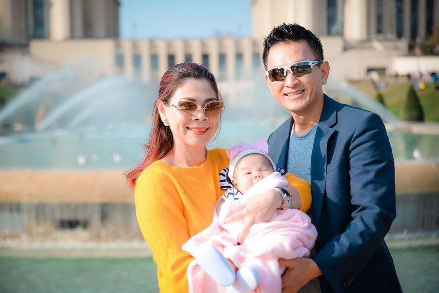 Thanh Thảo đưa con gái 3 tháng đi du lịch Châu Âu