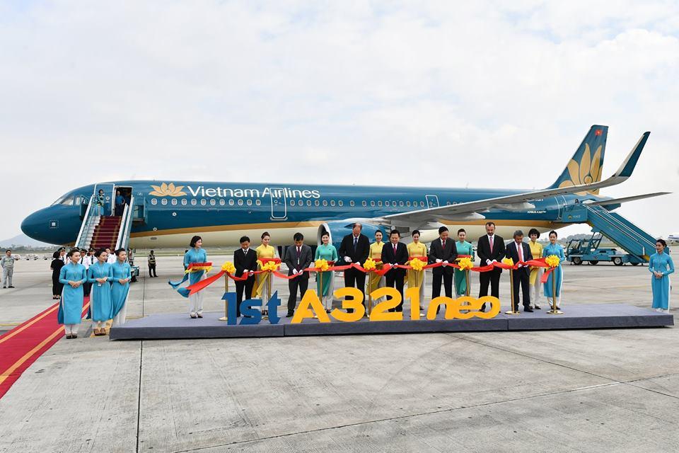 Vietnam Airlines đón nhận máy bay mới Airbus A321neo
