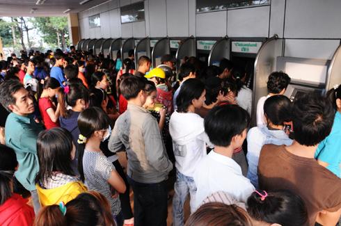 Ngân hàng Nhà nước yêu cầu các ngân hàng không để ATM hết tiền dịp Tết