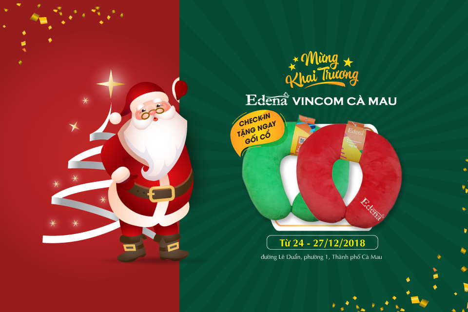 Nhiều quà tặng hấp dẫn mừng Edena khai trương showroom tại Vincom Cà Mau