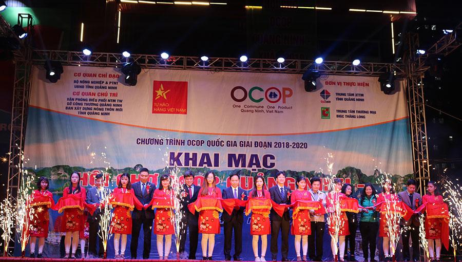"""Khai mạc """"Hội chợ OCOP Quảng Ninh- Xuân 2019 Tại Hà Nội"""" lần đầu tiên tại siêu thị Big C Thăng Long"""
