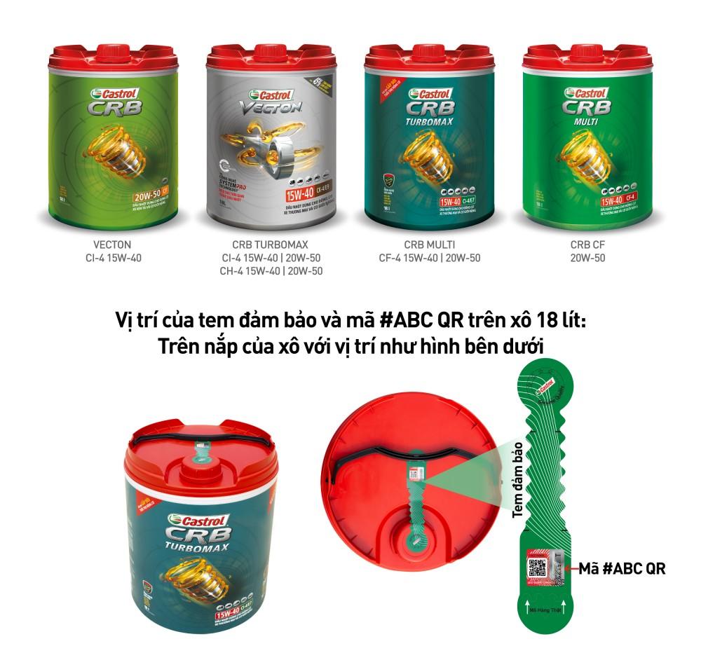 Castrol tiên phong ứng dụng mã #ABC QR - giải pháp xác thực hàng hóa trong lĩnh vực công nghệ dầu nhờn tại Việt Nam