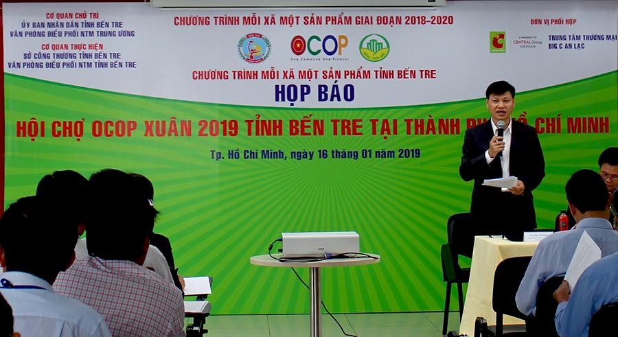 Đặc sản Bến Tre sẽ được giới thiệu phục vụ nhu cầu mua sắm Tết của người dân tại siêu thị Big C An Lạc, TP.HCM