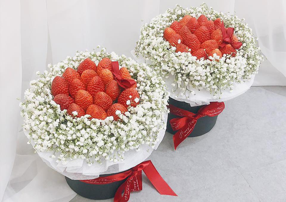 Hoa ăn được hút khách dịp Valentine