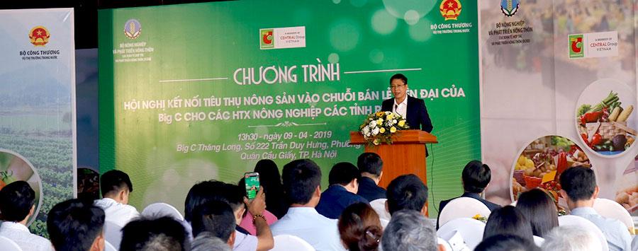 150 hợp tác xã trực tiếp kết nối tiêu thụ hàng nông sản vào hệ thống siêu thị Big C Việt Nam