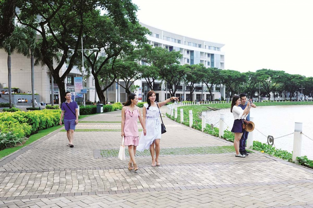 Những con đường ven sông nơi khu đô thị mới Phú Mỹ Hưng