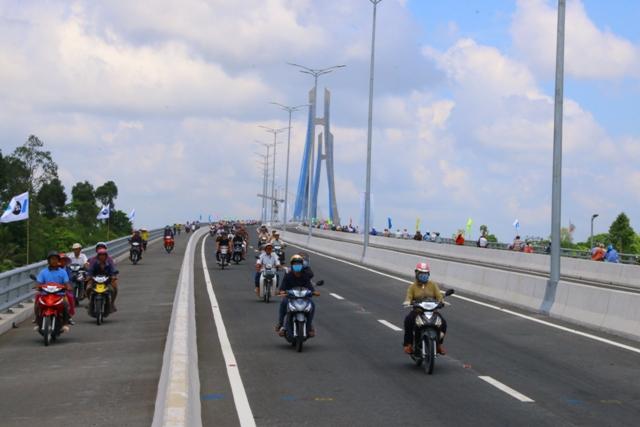 Khánh thành cầu Vàm Cống, cầu dây văng thứ 2 vượt sông Hậu