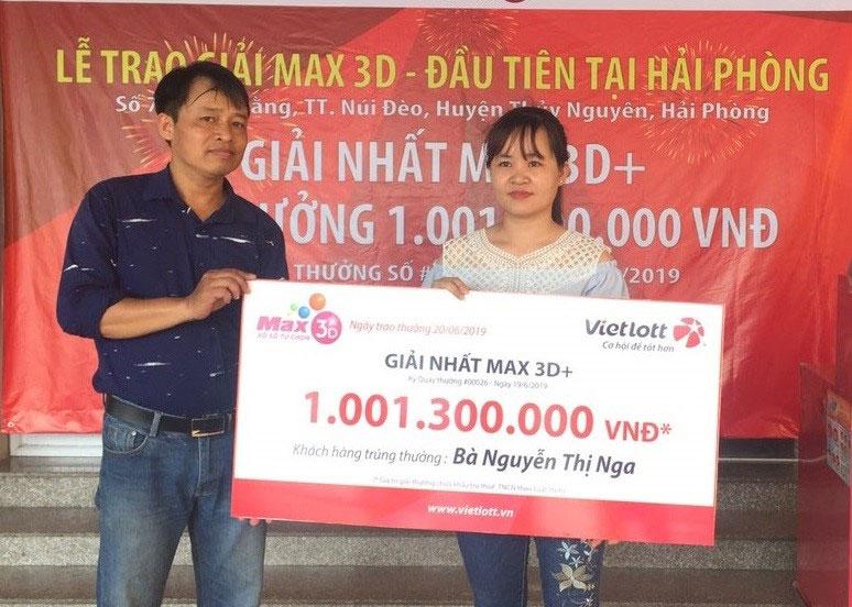 Nữ thợ may Hải Phòng trúng giải Vietlott – Max 3D hơn 1 tỷ đồng