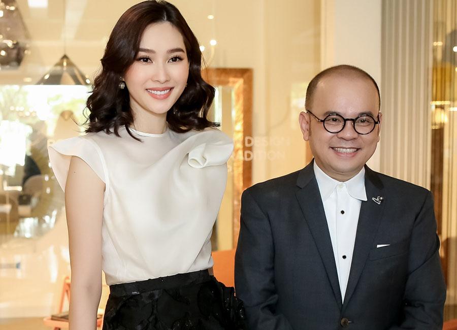 Hoa hậu Đặng Thu Thảo cười rạng rỡ bên Giáng My tại tiệc mừng Phố Xinh khai trương showroom mới