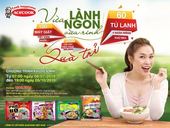 Acecook Việt Nam trao gần 5,8 tỷ đồng quà tặng cho người tiêu dùng
