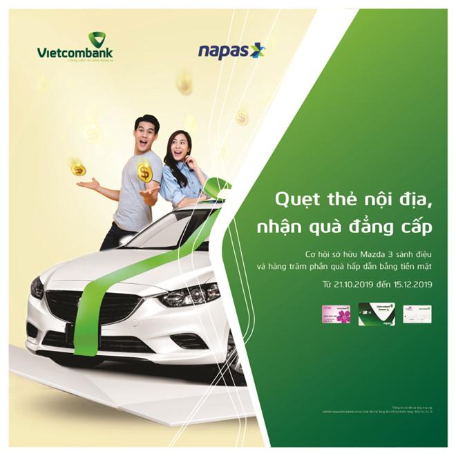 Vietcombank triển khai chương trình quay thưởng trúng xe ôtô 750 triệu