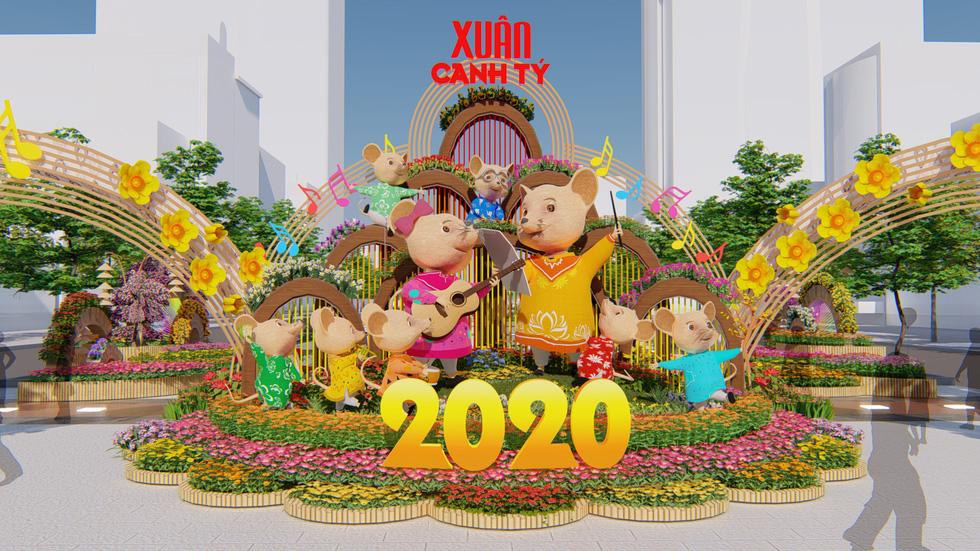 Gần 130 linh vật năm Canh Tý trên Đường hoa Nguyễn Huệ 2020
