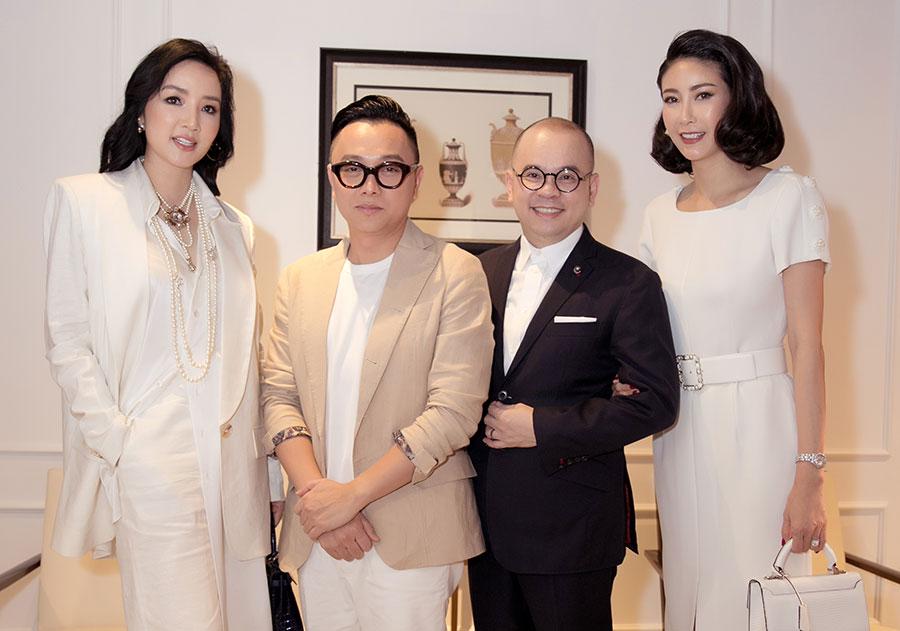 Hoa hậu Hà Kiều Anh, Giáng My và NTK Công Trí dự tiệc trà của Doanh nhân Nam Phố Xinh