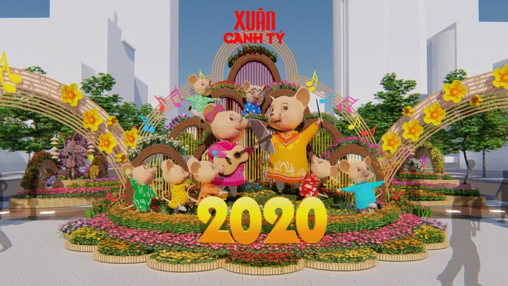 Đường hoa Nguyễn Huệ xuân Canh Tý 2020 sẽ khai mạc vào ngày 22.01.2020