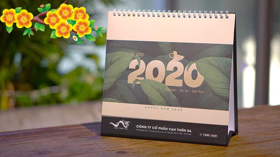 Edena tặng bạn đọc ViVuMuaSam.Com lịch Tết Canh Tý 2020