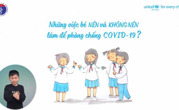 Video hoạt hình dễ hiểu giúp trẻ tránh xa dịch bệnh COVID-19