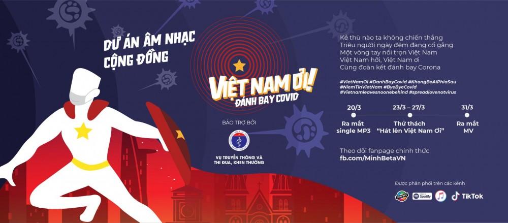 Nghệ sỹ ca vang giai điệu cổ vũ sức mạnh Việt Nam trước dịch COVID-19