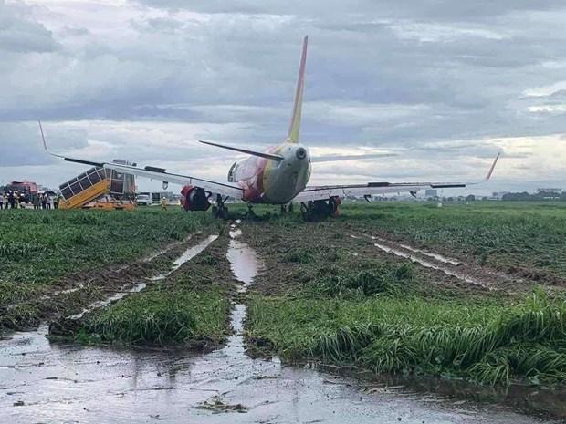 Thông tin mới nhất vụ máy bay Vietjet trượt khỏi đường băng tại sân bay Tân Sơn Nhất