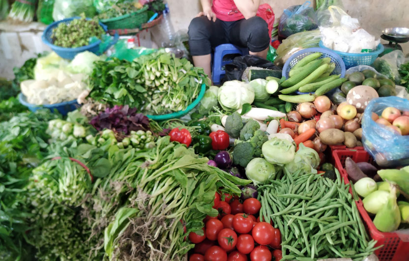 Giá rau củ tăng mạnh