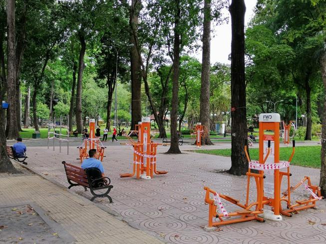 Tạm dừng hoạt động các khu tập trung đông người trong công viên
