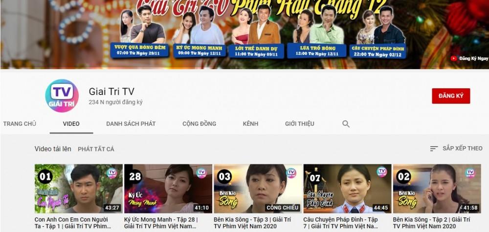 Giải trí TV : Kênh phim Việt dành cho người Việt