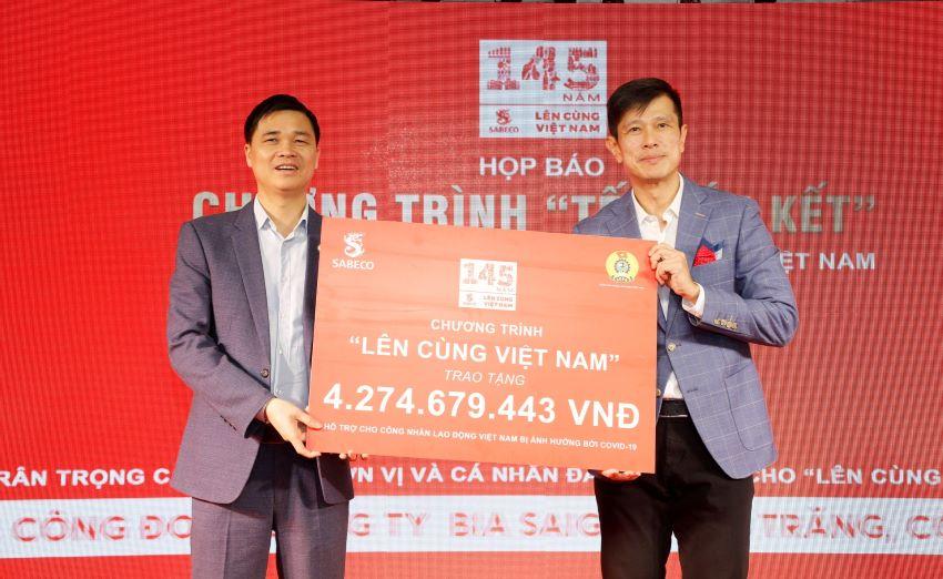 """Sabeco trao hơn 4,2 tỷ đồng cho công nhân lao động Việt Nam trong chương trình """"Tết Gắn Kết"""""""