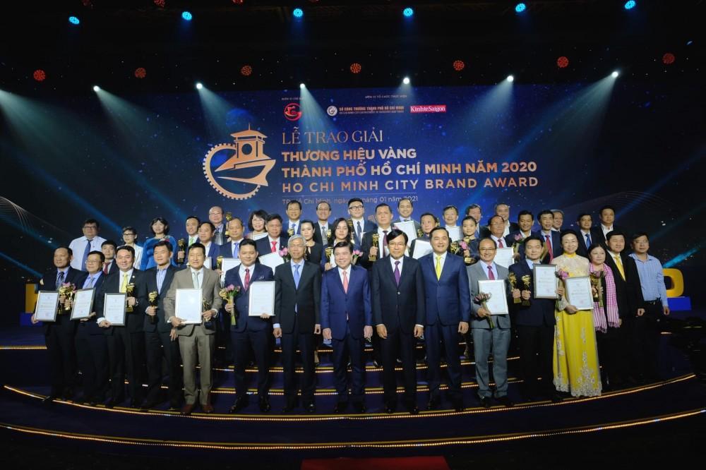 Trao Giải thưởng Thương hiệu vàng TP.HCM cho 30 doanh nghiệp