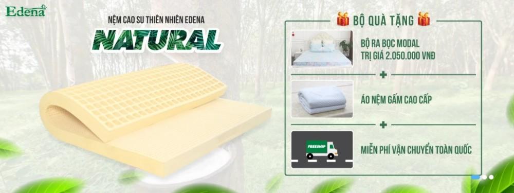 Nệm cao su thiên nhiên Edena Natural êm ái, nhẹ nhàng giúp bạn ngủ ngon hơn