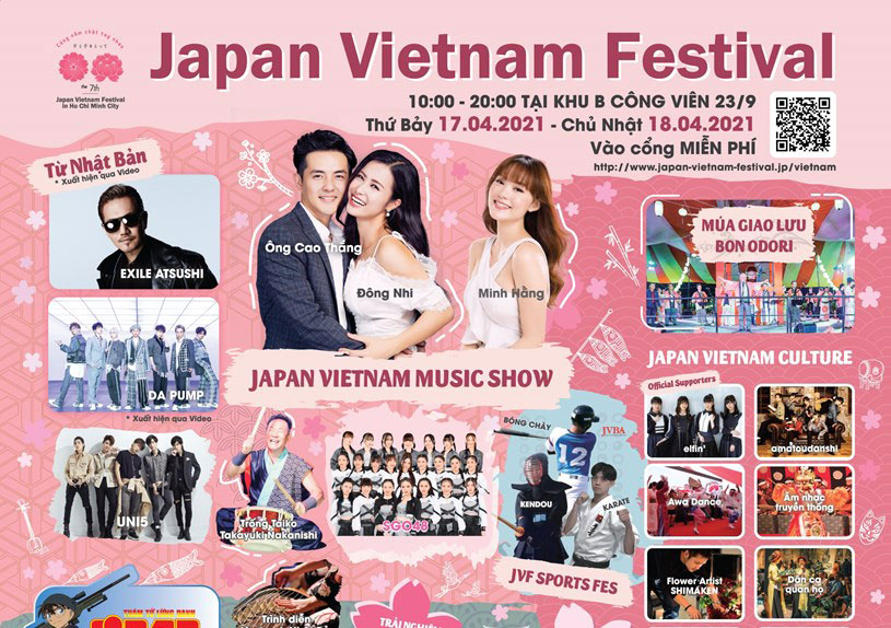 Lễ hội Nhật – Việt 2021 được tổ chức tại TP.HCM vào cuối tuần này
