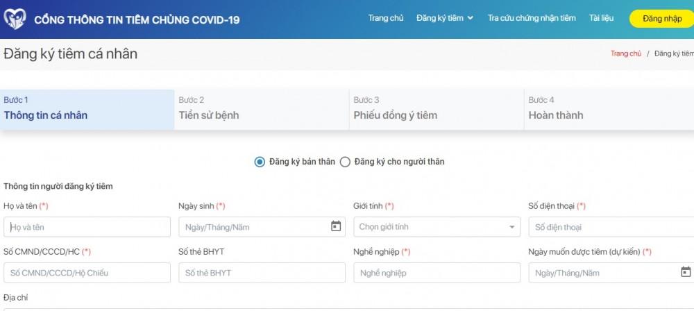 Đăng ký tiêm chủng COVID-19 ở đâu, đăng ký như thế nào?